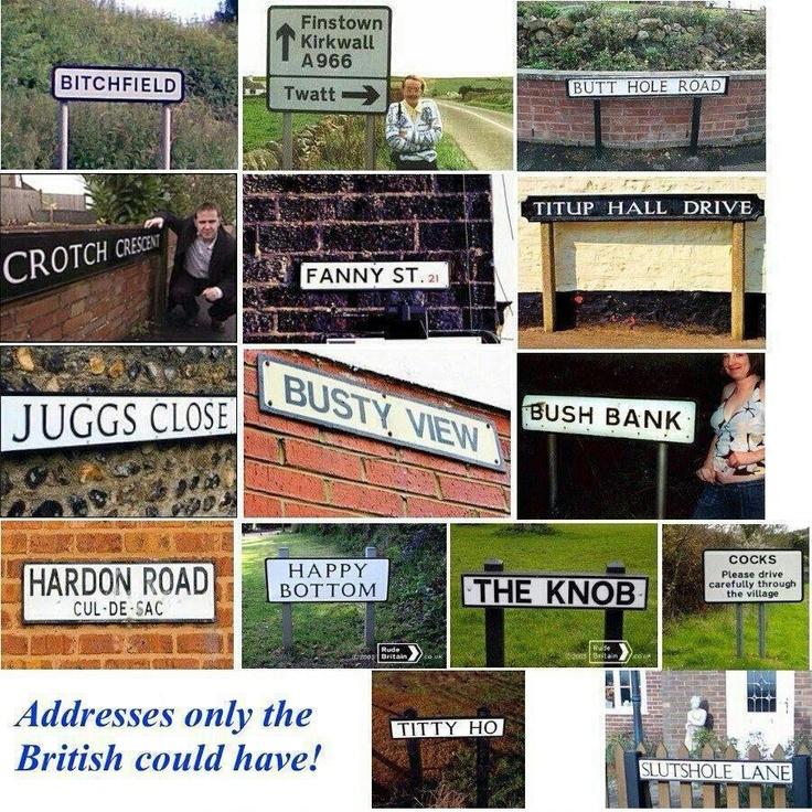 Hilarious Crude British Road Signs
