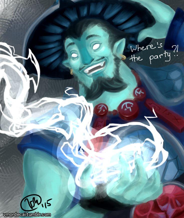 Raijin Thunderkeg the Storm Spirit from Dota 2