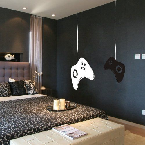 GECKOO® Game Controllers Wall Decal - Gamer Wall Decal Vinyl Wall Mural Sticker Game on Decal GECKOO http://www.amazon.com/dp/B00OH1Z0US/ref=cm_sw_r_pi_dp_kDbRwb08SZY4D