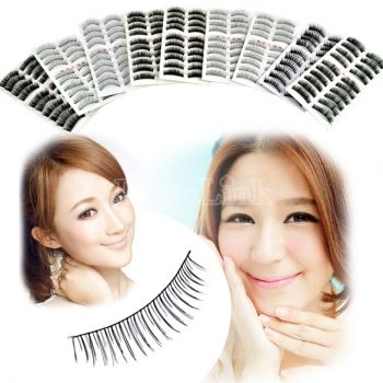 90 Pairs 9 Style False Eyelash Fake Lashes( Cross, Nature, Thick, Thick &Long )