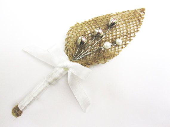 Rustic Boutonniere  Groom and groomsmen boutonniere. by GoldFlower, $7.00