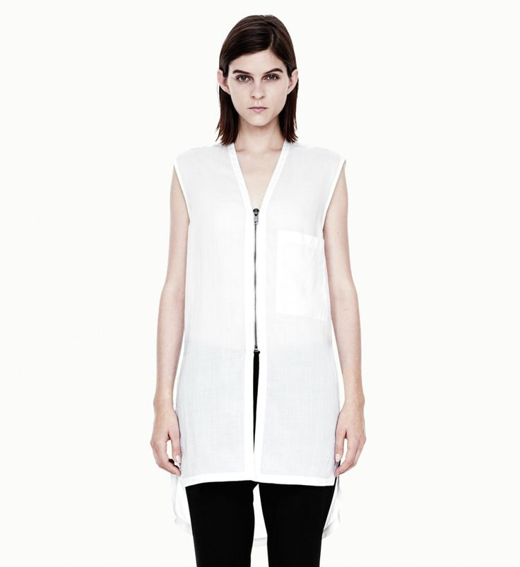 Helmut Lang WIRE SHIRTING TOP on helmutlang.com