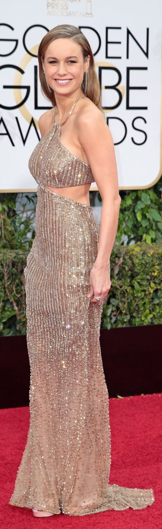 Brie Larson in Calvin Klein at the Golden Globes (Photo: Monica Almeida/The New York Times)