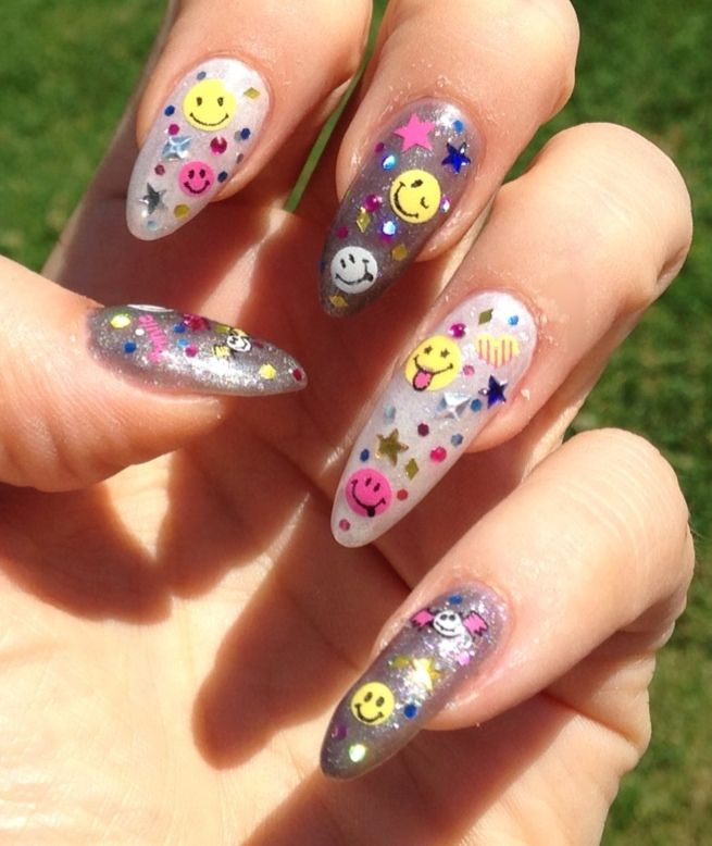LCN - colour gels then a whole bunch of spangles, rhinestones, decal-smilies. Just plain fun!