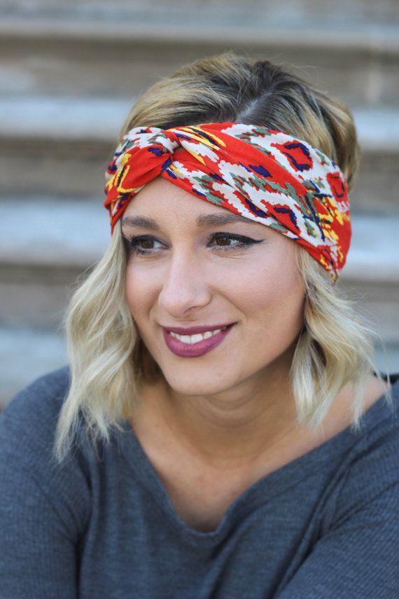 Womens Hair Accessory, Turban, Headband, Hair Style, Orange Turban, Womens Fabric Headband, Hairband, Fitness Hairband
