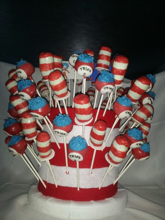 Dr Seuss Cake Pops Bday Ideas Pinterest Dr Seuss