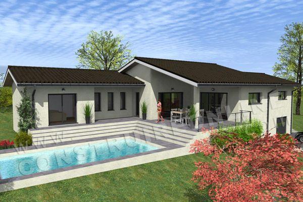 plan de maison sous sol terrasse CAPUCINE