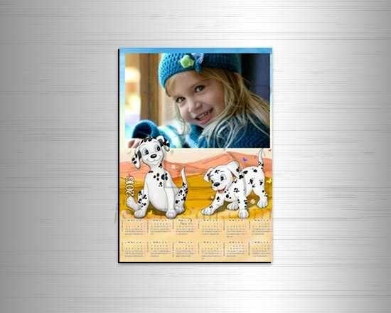 Calendario magnetico con dalmata