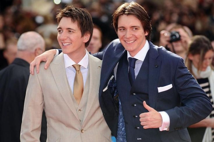 JAMES AND OLIVER PHELPS - James Andrew Eric Phelps and Oliver Martyn John Phelps (born 25 February 1986) are English actors, best known for playing Fred and George Weasley, respectively, in the Harry Potter film series.