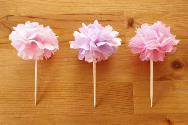 お花見にもぴったり!100均のお花紙で作るミニポムのフードピック – mamagirl | ママガール
