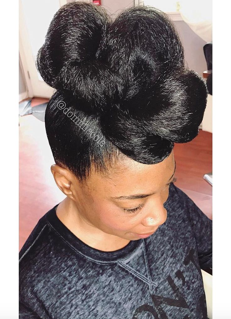 Cute updo @dommiecole Read the article here - http://blackhairinformation.com/hairstyle-gallery/cute-updo-dommiecole/