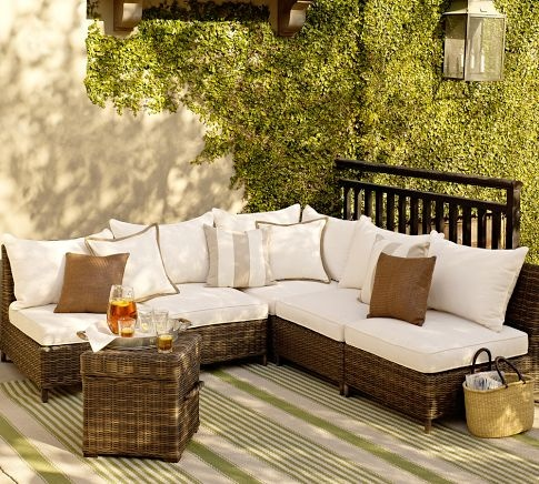 Weather Wicker Sectional Components | Pottery Barn: Backyard Ideas, Decor Ideas, Patio Furniture, All Weath Wicker, Outdoor Patio, Torrey All Weath, Back Porches, Pottery Barns, House Decor