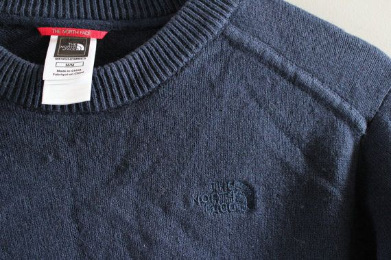 North Face Sweater Navy Blue Sweater North Face Dark by Amilialia