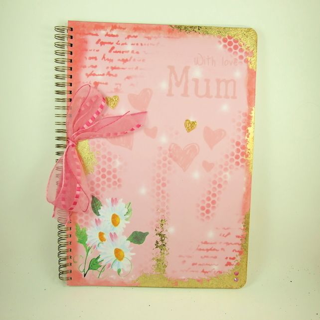 Large A4 Handmade Photograph Album, Memory Book, With Love Mum
