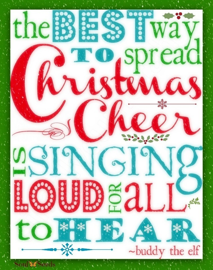 Christmas cheer buddy the elf quote