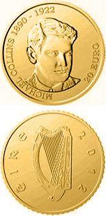 Coins of Ireland | COIN SERIES Michael Collins Commemorative - Gold 20 euro coins - Ireland - Collector Coin Database