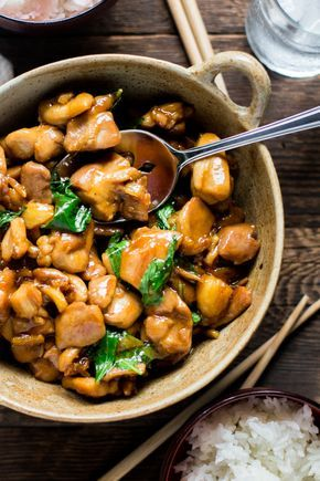 Sanbeiji is a popular Chinese dish, most often served in Southern China and Taiwan. The dish derives its name from its three key ingredients: sweet rice wine, soy sauce, and sesame oil. Garlic, gin...