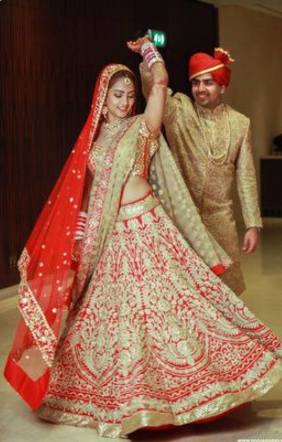 <3 red and gold for Indian brides