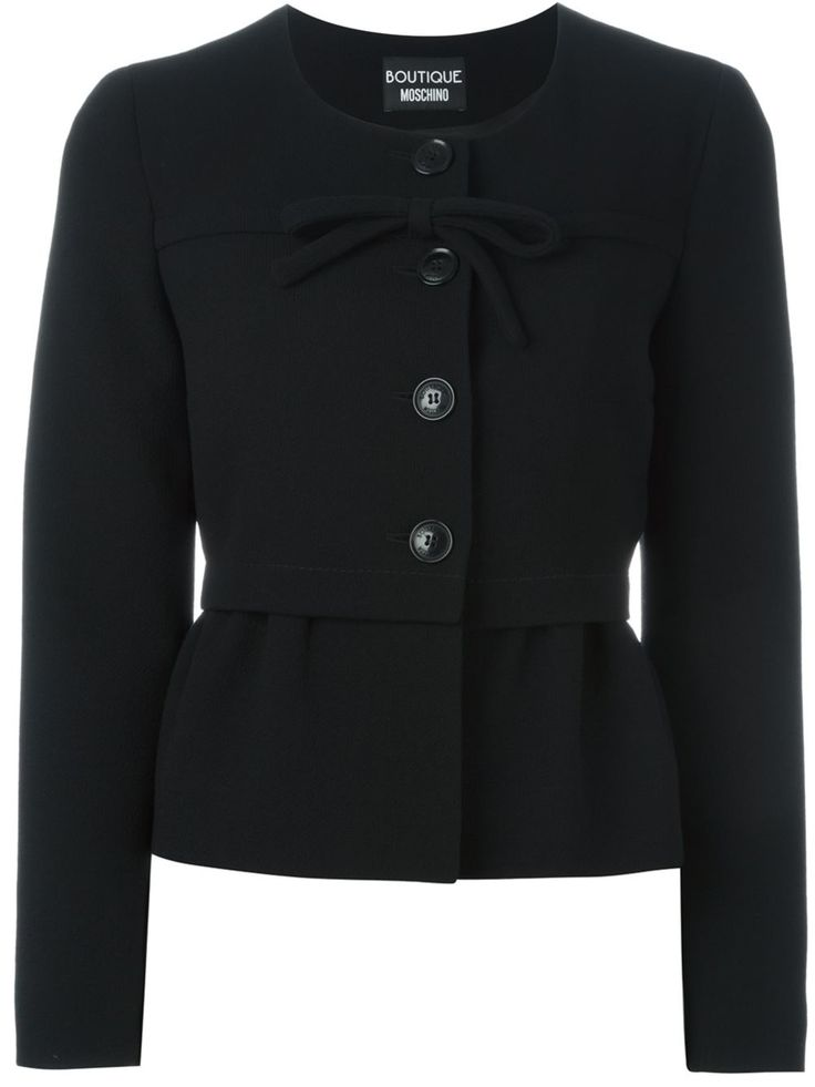 Boutique Moschino front bow peplum jacket