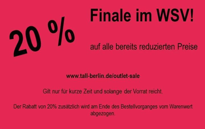 Nur noch wenige Tage SPAREN beim SHOPPEN!  http://ift.tt/2Em8yuK  #tall #winterschlussverkauf #wsv #sale #langemode
