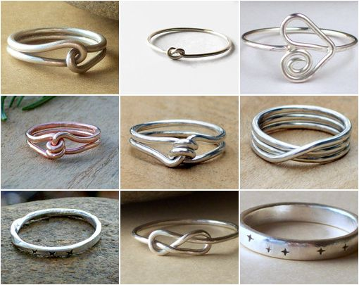 Promise rings, some for men, some for women... I have many in my shop, and LOVE making them, especially knowing the symbolism of them! Sterling silver or copper. Who do you love?