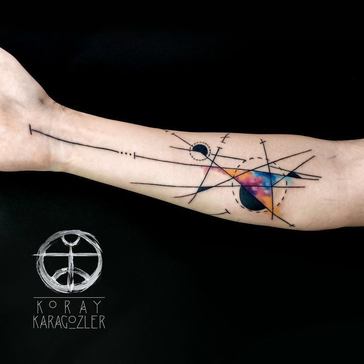 Watercolor Tattoo Geometric Abstract Watercolor Tattoo