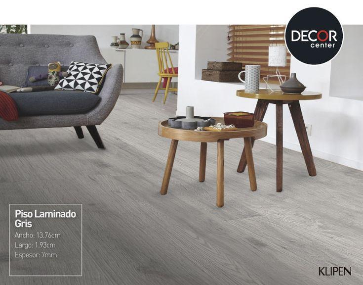 Fáciles de instalar y de apariencia similar a la madera, el piso laminado gris de Klipen es perfecto para la sala o dormitorio, este le dará un look moderno y elegante