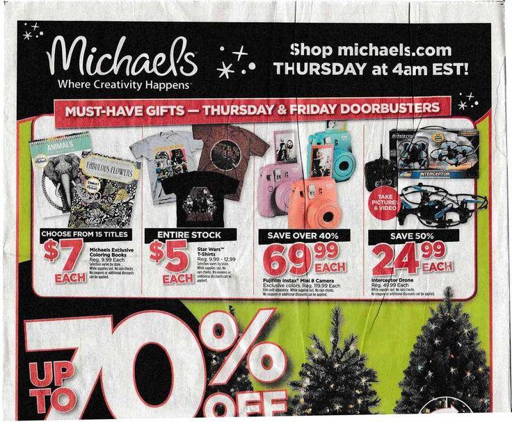 Michaels Black Friday 2015 Ad, Sales & Deals  https://www.blackfriday.fm/adscan/michaels