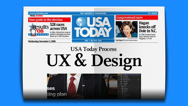 UX and Design process behind the redesign of USA Today