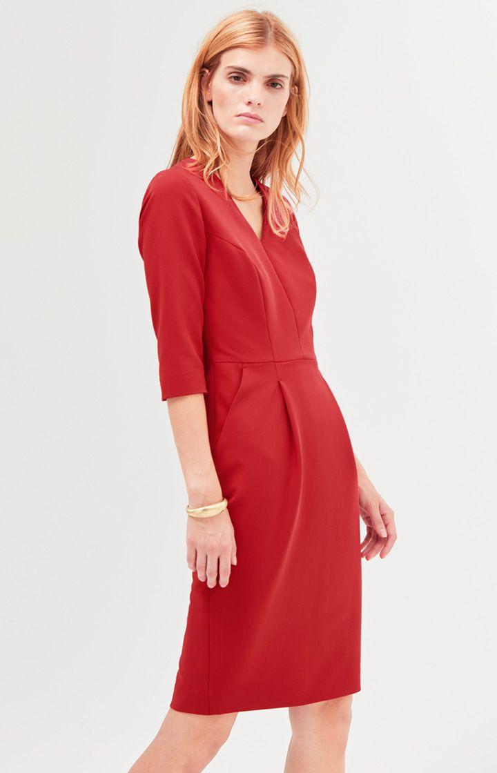 Kleid Deliah in Rot Jetzt bestellen unter: https://mode.ladendirekt.de/damen/bekleidung/kleider/sonstige-kleider/?uid=2b47c8c7-6a3b-50b8-96be-052de03d660a&utm_source=pinterest&utm_medium=pin&utm_campaign=boards #sonstigekleider #kleider #kategorien #bekleidung #röcke #women