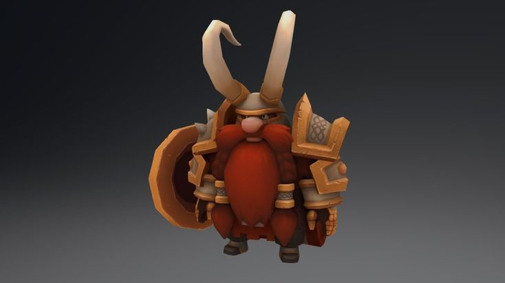 Dwarf character model made for video game project. Hand painted textures. Done in Blender. Concept art in this link http://micrerofurioso.deviantart.com/art/Dwarf-553966981?ga_submit_new=10%253A1439679406&ga_type=edit&ga_changes=1&ga_recent=1