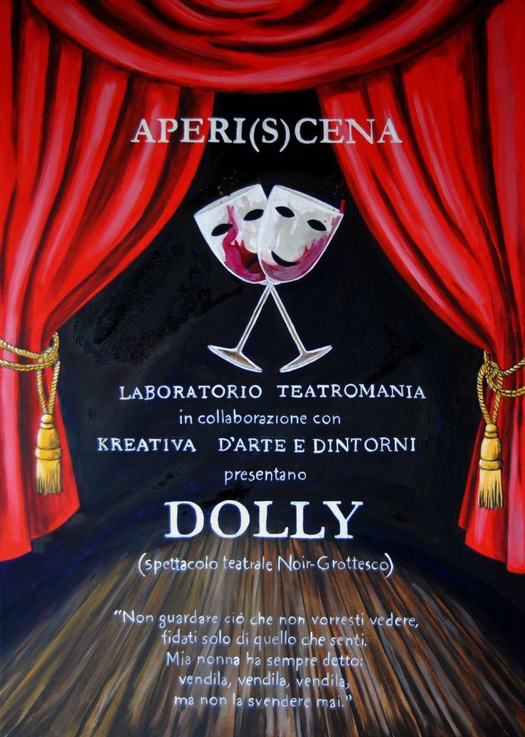 Locandina per spettacolo di teatro - olio su tela - 2014
