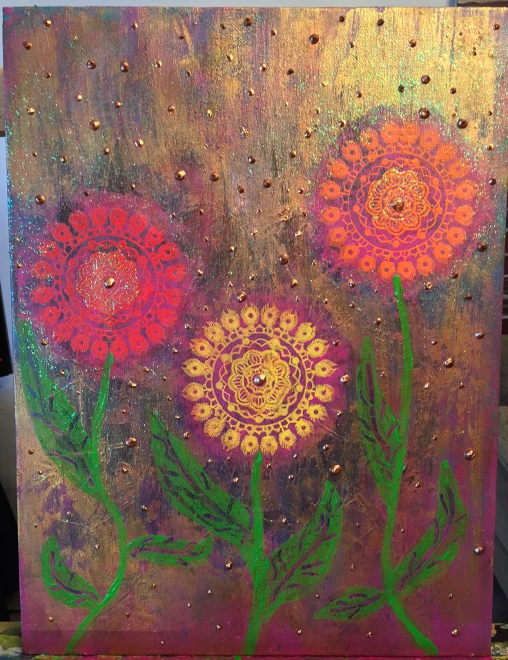 ARTIST Susan Mc Donald PINK BUBBLE ART CREATOR ACRYLIC ON CANVAS TITLED AFTER THE RAIN