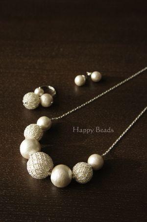 bead netting over silk beads