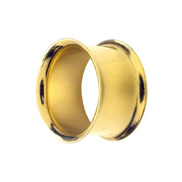 24K GOLD PVD DOUBLE FLARED TUNNELS