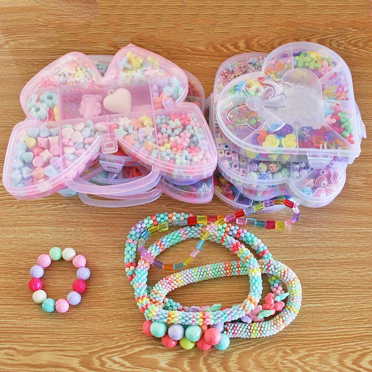 Подарочные наборы для девочек для плетения бус,браслетов