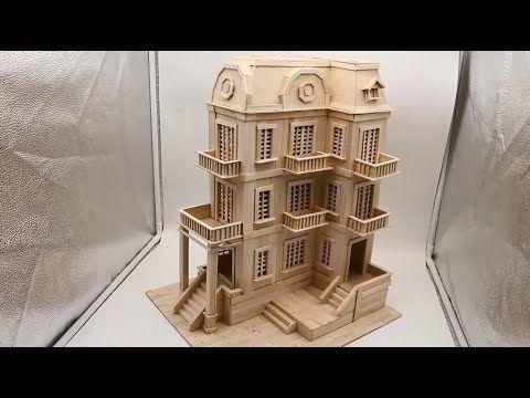 Building popsicle stick Mansion House - Popsicle Stick Edifice