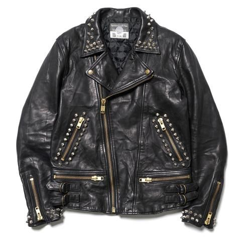 blackmeans For HAVEN Quilted Sheep Leather 4 Pocket Riders Jacket with Studs