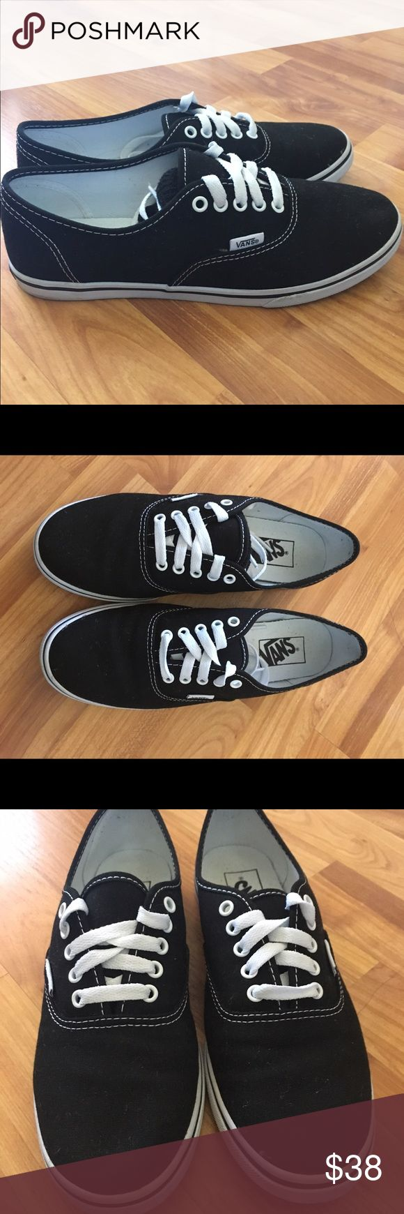 Black vans Women's size 8. Like new, only worn once Vans Shoes Sneakers