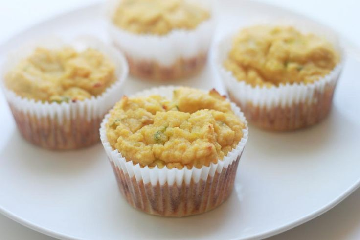 Paleo Lemon Zucchini Muffins -- made with coconut flour, eggs, vanilla, lemons, coconut oil, honey, zucchini, and baking soda