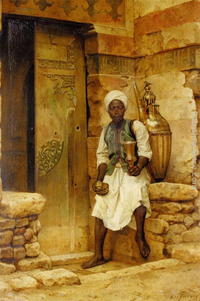 Arthur von Ferraris - A Nubian Boy Painting