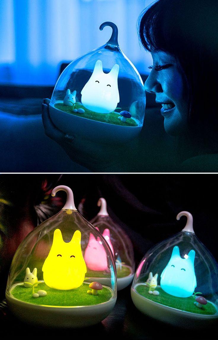 My Neighbor Totoro Night Light. OMG I DON'T CARE IF ITS A NIGHT LIGHT, I WANT ONE!