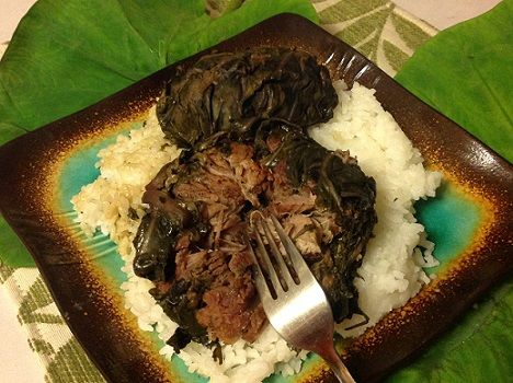 Hawaiian Lau Lau Pork Recipe - Slow Cooker Method- Easy to Make!