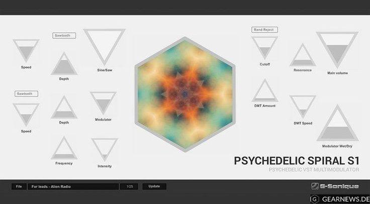 G-Sonique hat mit dem Pychedelic Spiral S1 ein ungewöhnlich aussehendes Modulations-Plug-in veröffentlicht, das durch seine GUI eher die Kreativen ansprechen soll. Leider nur Windows-only.