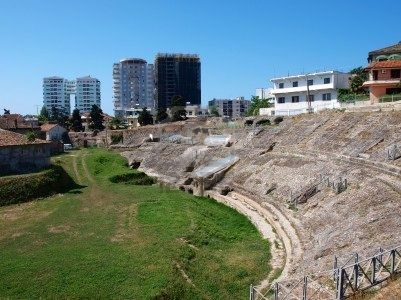 Durres Albania, a recently discovered Roman Theatre, when I was there, the cows were grazing