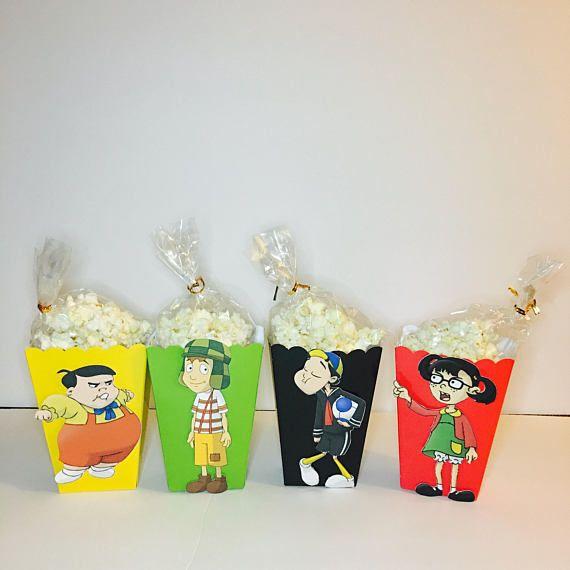 El Chavo Del Ocho Favor Popcorn Boxes 10 ct  Quico Kiko