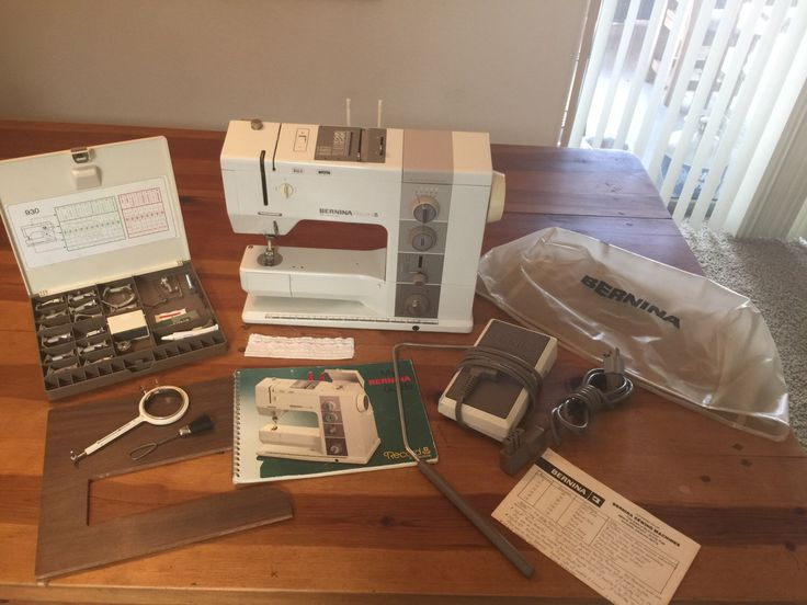 Bernina 930 Record Sewing Machine & Accessories by GlobalNomadVintage on Etsy https://www.etsy.com/listing/462575527/bernina-930-record-sewing-machine