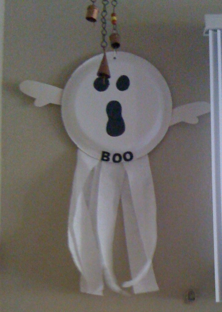 The classic paper plate ghost. Super simple yet still whimsical. Halloween craft for preschool & 40 best Halloween Crafts images on Pinterest | Kids crafts ...
