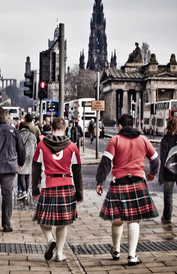 Welsh fans in Edinburgh for Scotland v Wales Six Nations Rugby International  #WOWsportandleisure