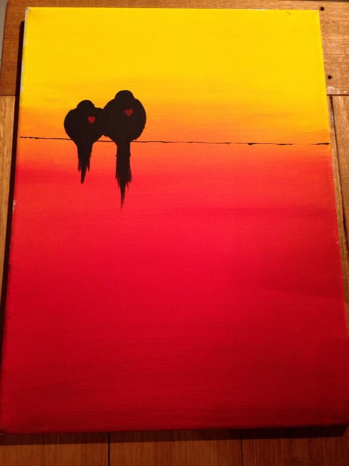 Lovebirds on a wire in the sunset by Kent Coderre '14